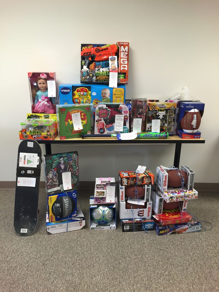 Photo of the AOA's Salvation Army donations